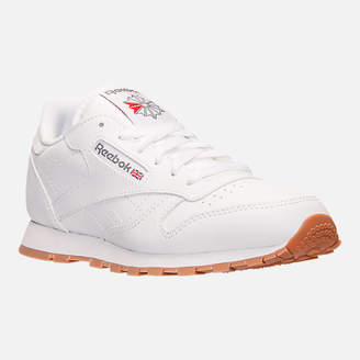 Reebok Kids' Grade School Classic Leather Gum Casual Shoes