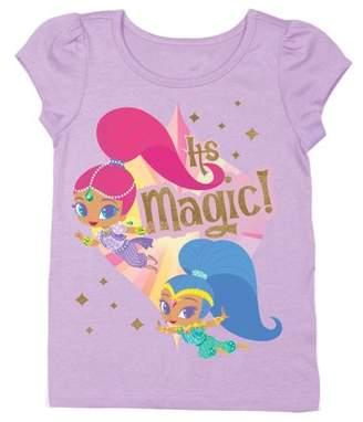 SHIMMER & SHINE Shimmer & Shine Short Sleeve Puff Tee (Toddler Girls)
