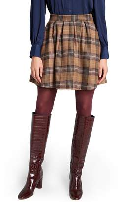 ModCloth Brisk Taker Short A-Line Plaid Skirt