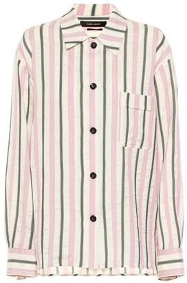Isabel Marant Venice striped cotton-blend shirt