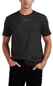 RtA MEN'S DISTRESSED EMBROIDERED COTTON T-SHIRT