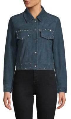 Veda Wynona Embellished Leather Jacket