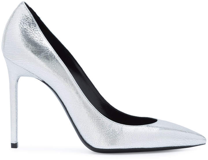 Saint Laurent Anja 105 pointed pumps