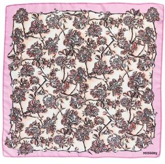 Missoni Floral Print Square Silk Scarf