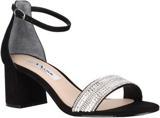 079ca0b82bef Nina Block Heel With Crystal Strap Sandals - Elenora
