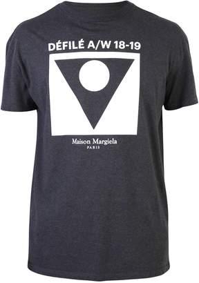 Maison Margiela Black Front Print T-shirt