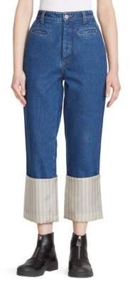 Loewe Striped Hem Fisherman Jeans
