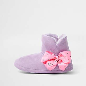 Jo-Jo Jojo Bows Girls purple JoJo Bows boot slippers
