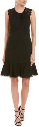 Rebecca Taylor Tweed & Lace A-Line Dress