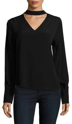 Lord & Taylor Long-Sleeve Choker Blouse $94 thestylecure.com