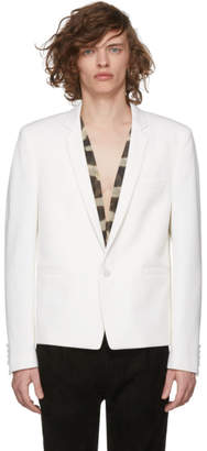 Saint Laurent White Single-Button Blazer