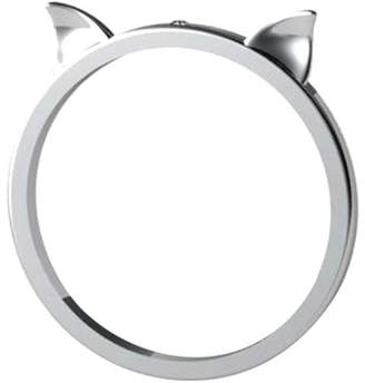 "Antoanetta 14k White Gold Ring ""Lucky Cat Ears"""