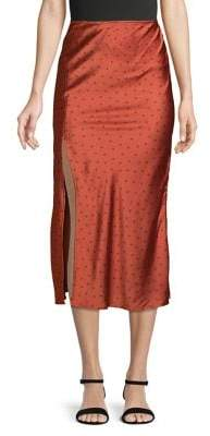 Finders Keepers Emilia Butterfly Thigh-Slit Skirt
