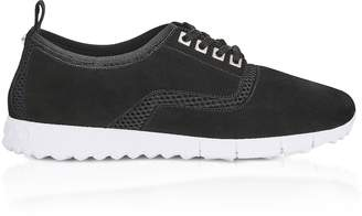 Jimmy Choo Jenson Black Black Mesh and Suede Trainers