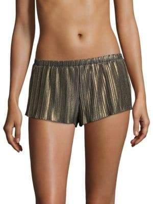 Cosabella Metallic Plisse Tap Shorts