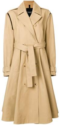 removable sleeve trench coat
