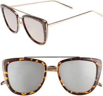 Quay French Kiss 55mm Cat Eye Sunglasses