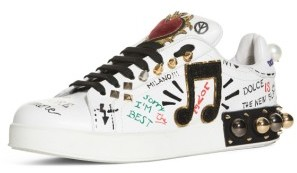 Women's Dolce&gabbana Mixed Media Sneaker $1,195 thestylecure.com
