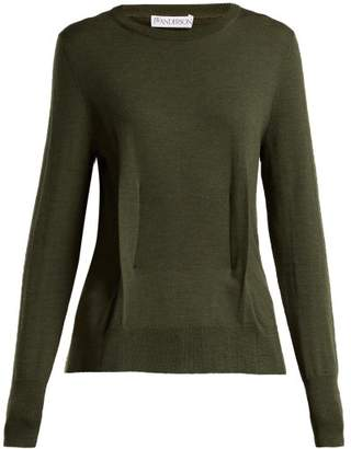 J.W.Anderson Merino Wool Knitted Sweater - Womens - Khaki