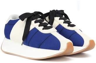 Marni Big Foot suede and mesh sneakers