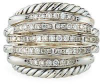 David Yurman Tides Large Dome & Diamond Pave Ring