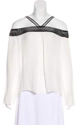 Nicole Miller Embroidered Silk Top w/ Tags