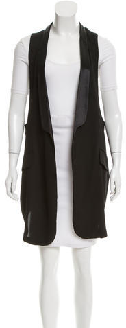 Balenciaga Balenciaga Satin-Trimmed Longline Vest