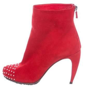 Walter Steiger Embellished Suede Ankle Boots