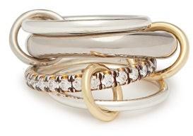 Spinelli Kilcollin Luna 18kt Black Gold & Diamond Ring - Womens - Black