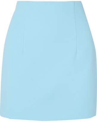 Off-White Crepe Mini Skirt - Light blue