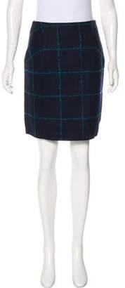 Christian Dior Wool Check Skirt