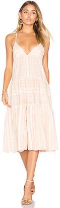 Mara Hoffman Better Cotton Tier Dress in Pink $195 thestylecure.com