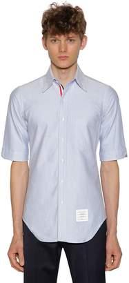 Thom Browne Cotton Oxford Shirt W/ Grosgrain Detail