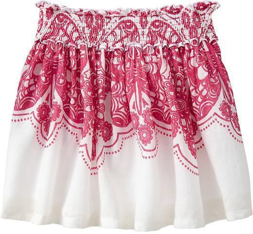 Old Navy Girls Smocked-Floral Skirts