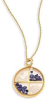 Aurelie Bidermann Women's Diamond, Blue Sapphire & 18K Yellow Gold Medallion