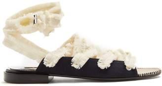 Altuzarra Wraparound frayed-tie cotton espadrilles