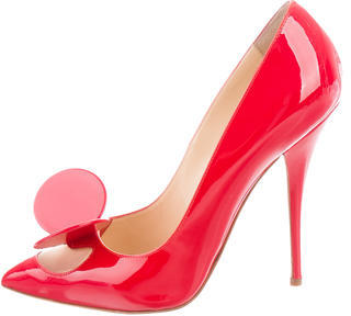 Christian Louboutin Madame Mouse Pointed-Toe Pumps $395 thestylecure.com