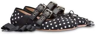 Miu Miu polka dot ballerina shoes