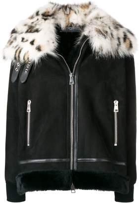 Simonetta Ravizza leopard fur collared jacket