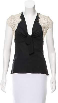 Nicole Miller Silk Short Sleeve Top