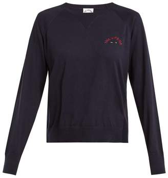 The Upside Wilder Cotton Jersey Sweatshirt - Womens - Navy