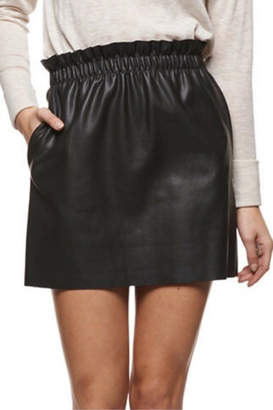 Dex Pull-On Faux-Leather Skirt