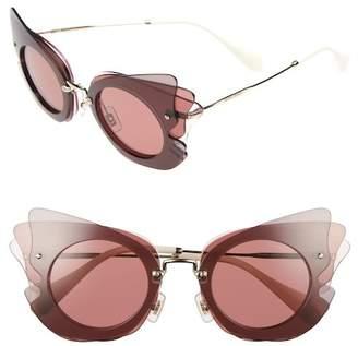 Miu Miu Women's Layered Butterfly 63mm Acetate Frame Sunglasses