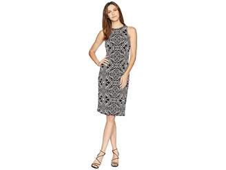 London Times Cutaway Shoulder Sheath Dress Women's Dress