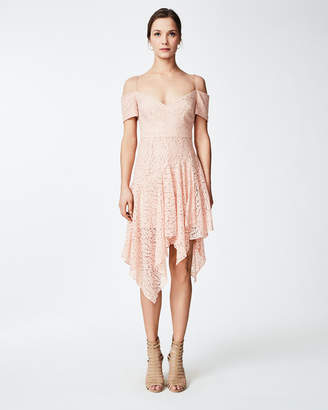 Nicole Miller Lace Scarf Dress
