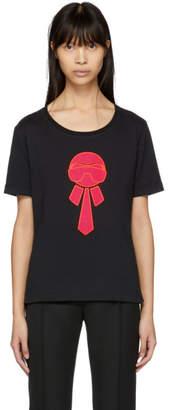 Fendi Black Karlito Glitter T-Shirt