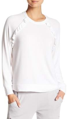 Betsey Johnson Ruffled Raglan Pullover