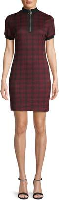 RENVY Plaid Mini Sheath Dress