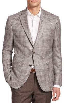 Jack Victor COLLECTION Plaid Cashmere Blazer