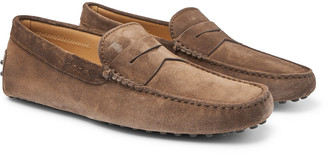 Tod's Gommino Suede Driving Shoes - Men - Brown
